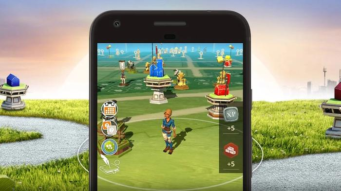 An image showing a gameplay example from Catan World Explorers, an AR game from Pokemon GO developer Niantic.