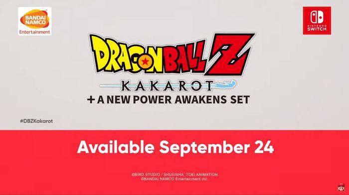 The release date for Dragon Ball Z Kakarot.