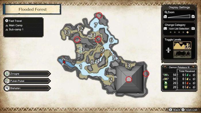 Monster Hunter Rise Divine Rhino locations