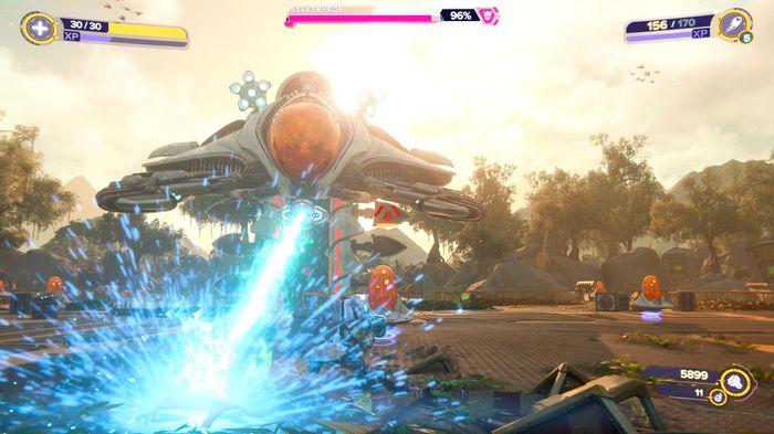 Ratchet and Clank Rift Apart Seekerpede laser