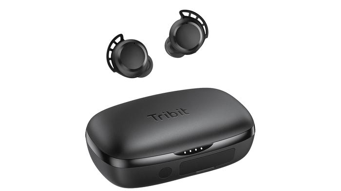 Best budget earbuds, product image of Tribit earbuds and charging case