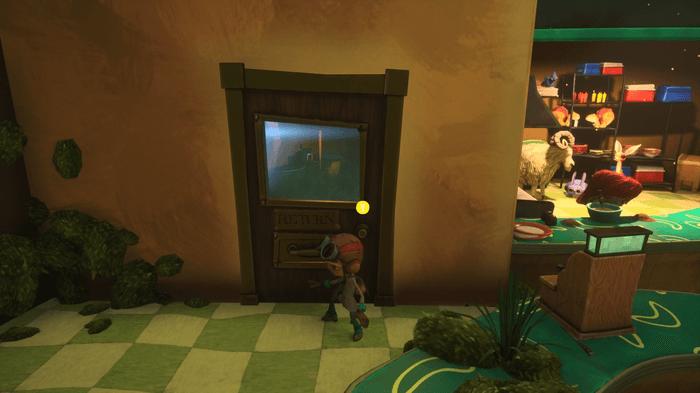 a narrow slot door in Psychonauts 2