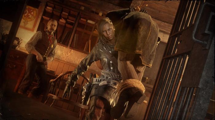 Red Dead Online Gold Bounty Hunter hands in captured bounty
