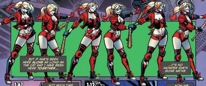 Harley Quinn flossing
