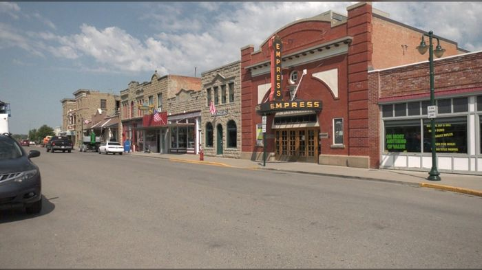 Shops and streets have been transformed for filming.