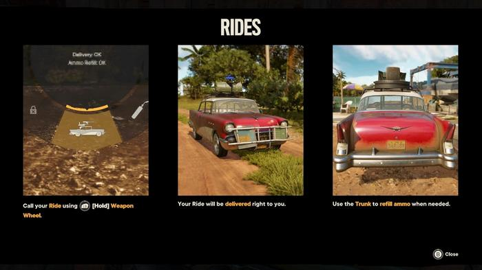 Information on Rides in Far Cry 6.