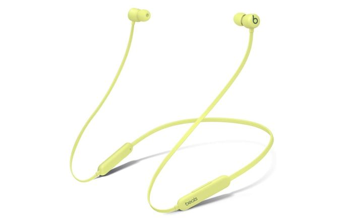 Best budget earbuds, product image of yellow Beats earbuds