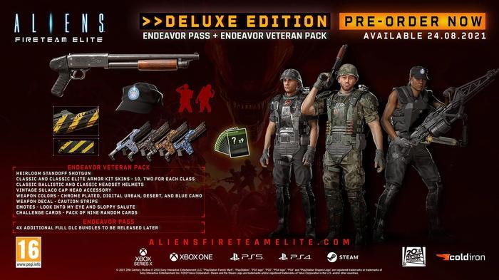 Aliens: Fireteam Elite deluxe edition infographic