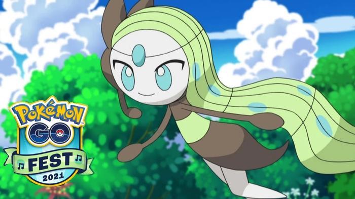 The Pokemon Meloetta in its Aria form.