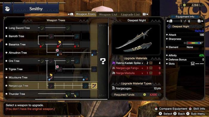 Monster Hunter Rise Deepest Night Sword Forge