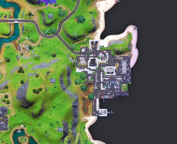 Dirty Docks is located to the west of the Fortnite island.