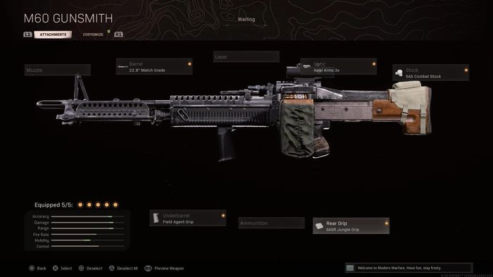 M60 Warzone Best Attachments