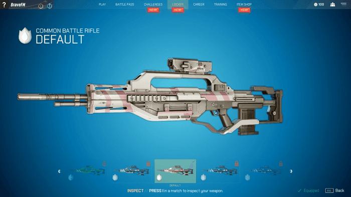 Image showing Splitgate battle rifle
