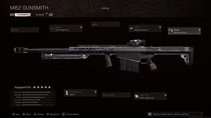M82 Warzone Best Attachments