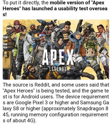 apex legends mobile beta device requirements