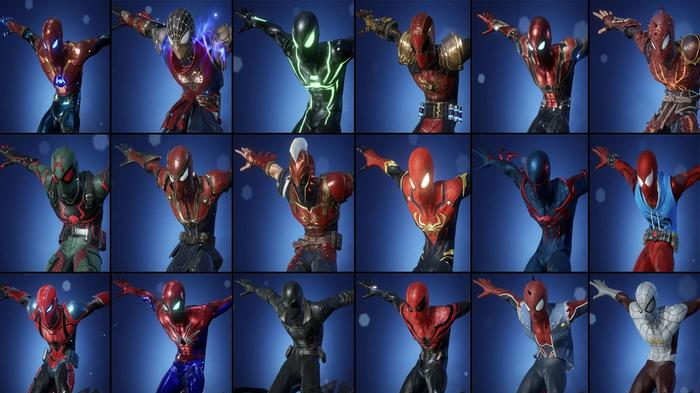 Every Marvel Future Revolution costume for Spider-Man.