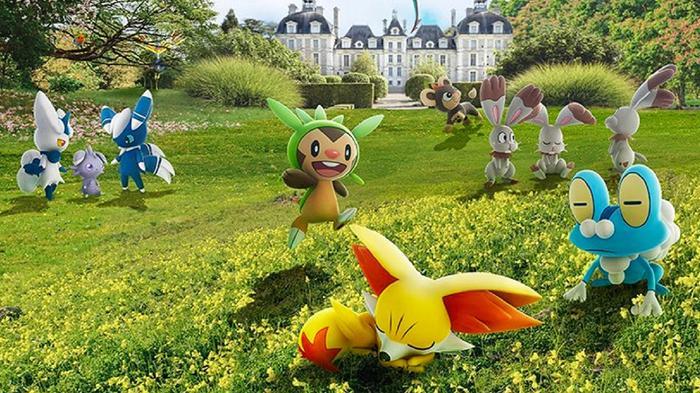 Pokemon out in the wild in Pokemon GO