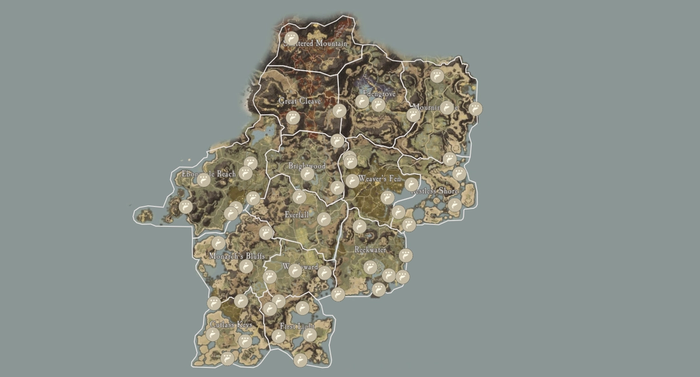 New World Map showing fishing hotspots