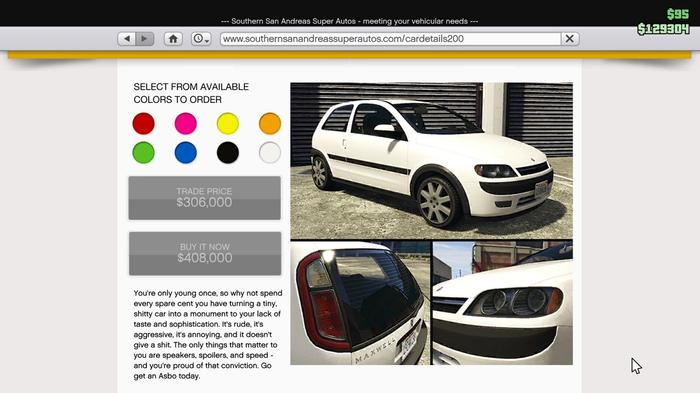 GTA Online Maxwell Asbo Car In White