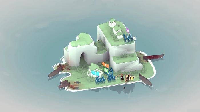 An island defence in Bad North
