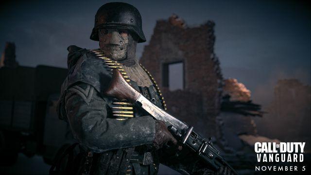 World War 2 soldier holding machine gun