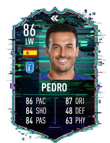 FIFA 22 Flashback Pedro FUT Ultimate Team SBC Card Stats