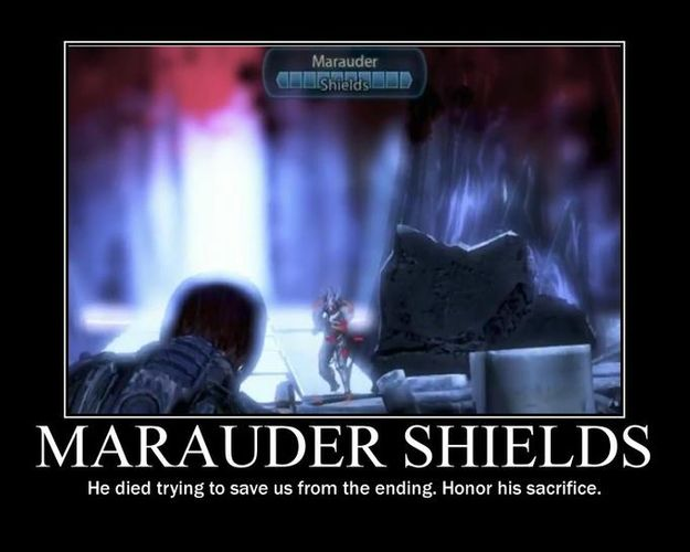 Marauder Shields meme, he tries to protect you from an awful ending