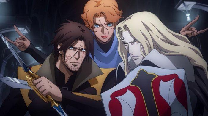 Castlevania Trevor, Sypha, and Alucard
