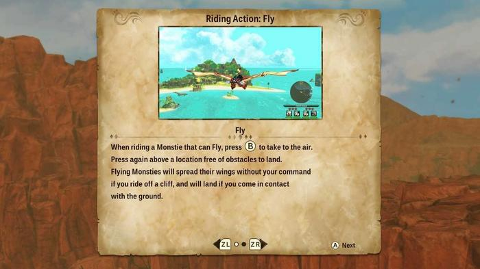 Unlocking flying as a Rider Action in Monster Hunter Stories 2