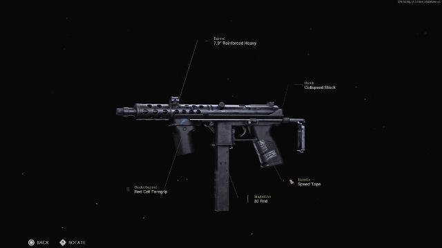 TEC-9 Black Ops Cold War With Attachments Showing