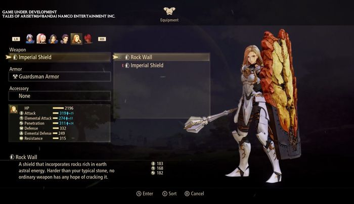 Tales of Arise weapon and armour with Kisara