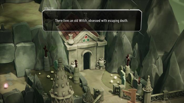 Mausoleum entrance in Death's Door game