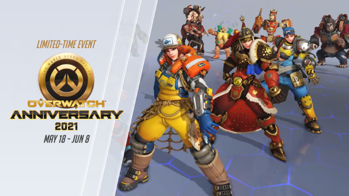 Leaked Christmas Skins Overwatch 2021 Overwatch Anniversary 2021 Event Countdown Release Date Start Time New Skins Weekly Challenges And Everything We Know