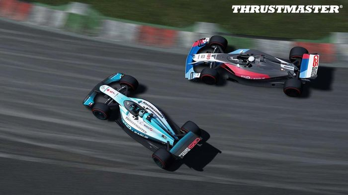 GOING, GOING...: JAESA pushed hard against BMW but couldn't find a way through