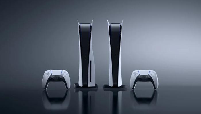 DualSense Controller, PlayStation 5 Console, PlayStation 5 Digital Console, DualSense Controller, Grey Background