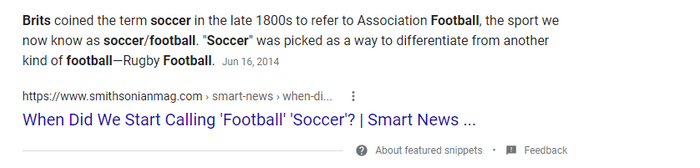 I spit facts with evidence. British people invented the name for Soccer and then changed it to Football.