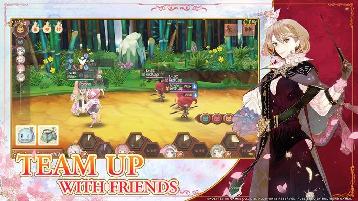 Atelier Online gameplay in landscape view.