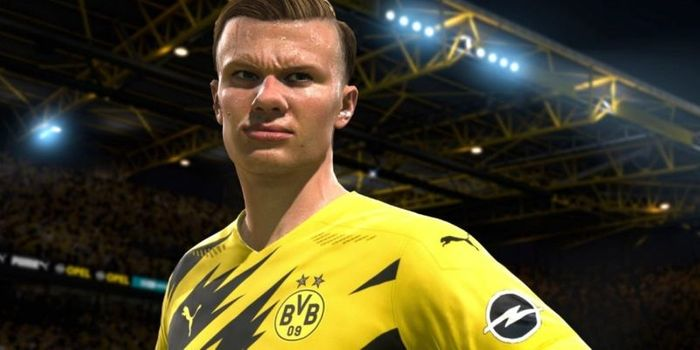 Goal machine Haaland features prominently in the game's reveal trailer
