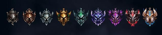 League of Legends' ranked icons.