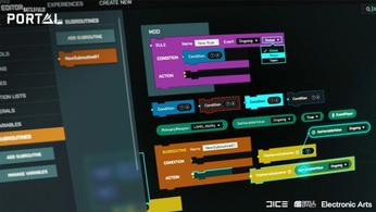 The Battlefield Portal shows flowcharts when players edit aspects of the game.