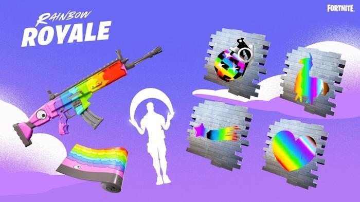 Fortnite Rainbow Royale items