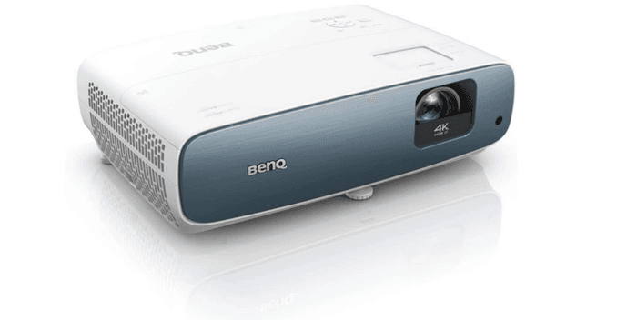 best projector for sports, product image of a blue and white projector