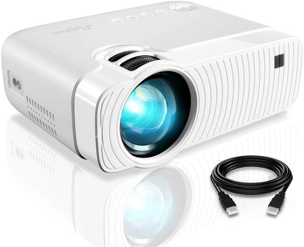 Best Projector Under 200 Elephas, product image of white projector