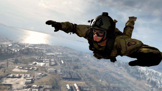 Warzone Operator Parachuting Into Verdansk