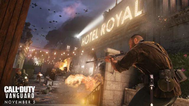 Vanguard Player Shooting Opponents