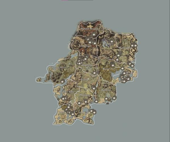 A map showing the location of lodestone.