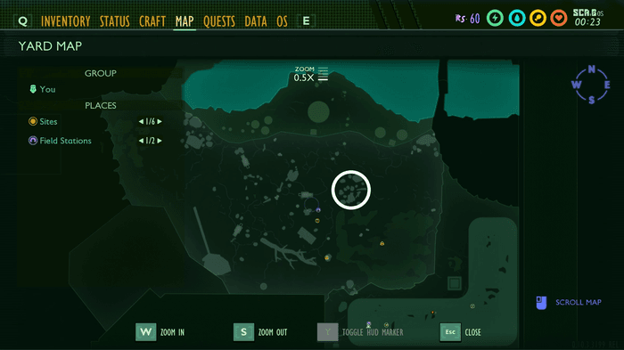 Spade Gulch location on map in Grounded