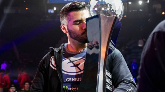 Apathy Kissing Call of Duty World Championship Trophy