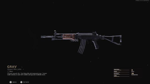 Grav Assault Rifle Black Ops Cold War