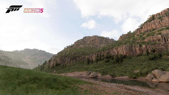 Screenshot showing Forza Horizon 5's Canyon biome